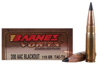 Buy Barnes Vor-Tx .300 AAC Blackout Ammo 110gr TAC-TX FB Rifle Cartridges - 500 Rounds online at Meritammoshop. Order .300 AAC Blackout Ammo at cheap prices.